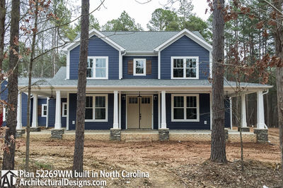 Expanded Farmhouse Plan with 3 or 4 Beds - 52269WM   Architectural ...