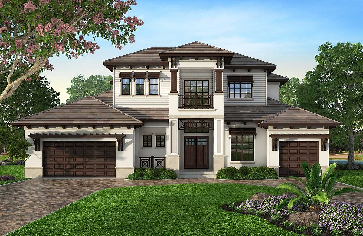 architectural design floor plans florida house plan with second floor rec room 86024bw architectural designs house plans 7577
