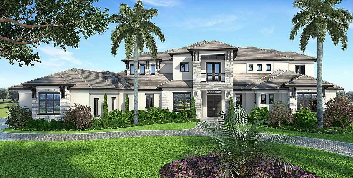 Spacious Contemporary Florida House Plan 86025bw