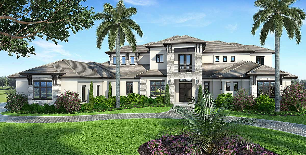Spacious contemporary florida house plan 86025bw for Florida luxury home plans