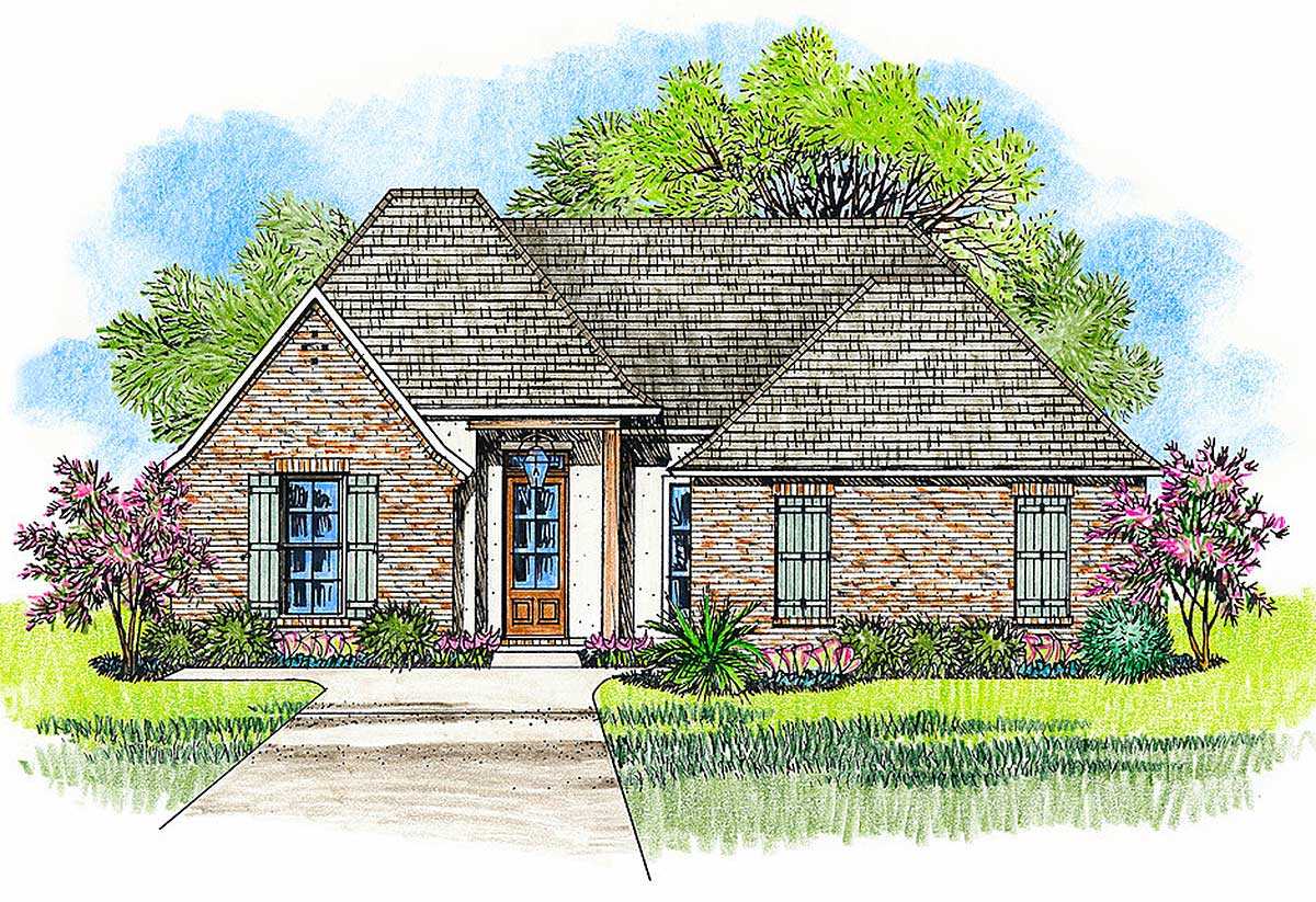 Acadian house plan with open layout 56409sm for Acadian home plans