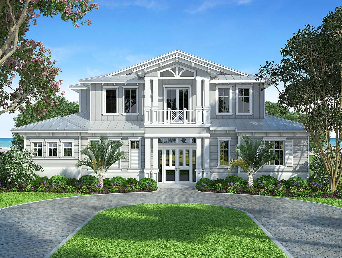 Splendid old florida style house plan 86032bw for Florida house plans with photos