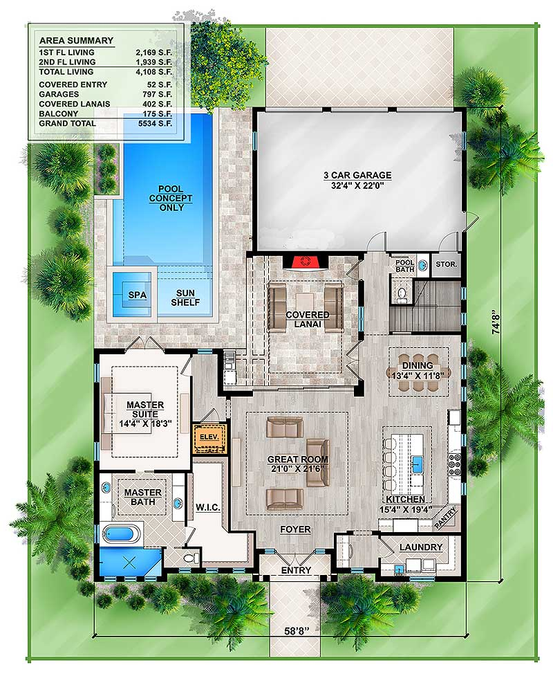 Splendid old florida style house plan 86032bw architectural designs house plans - Full verandah house plans the functional extra space ...
