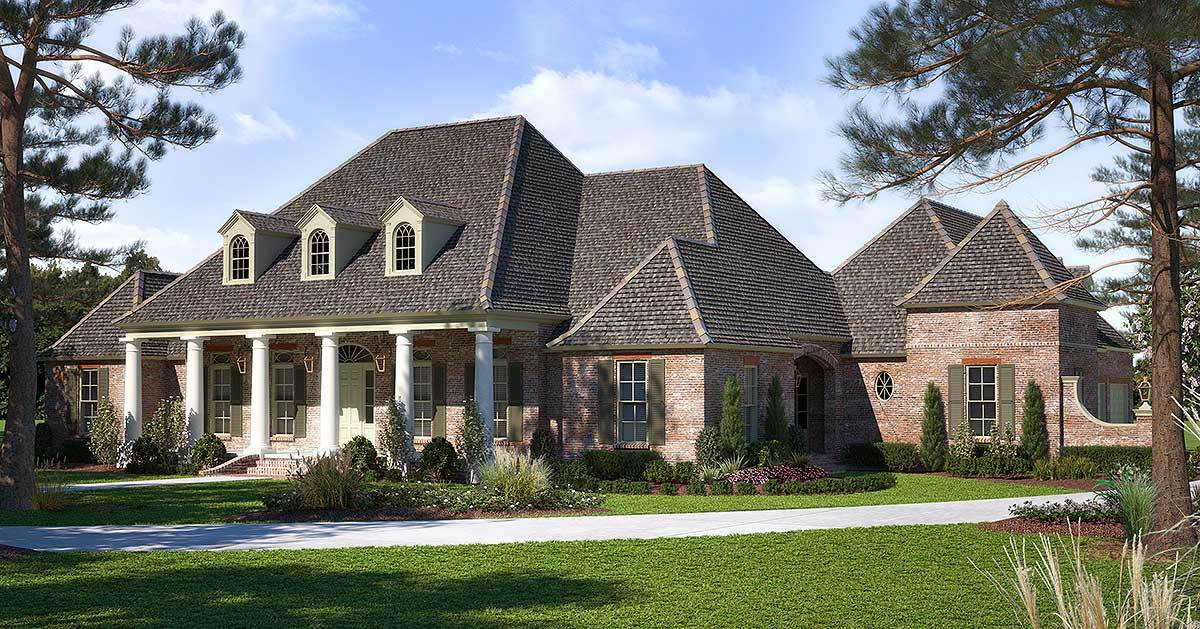 Luxurious acadian house plan with optional bonus room for Architecturaldesigns com house plan 56364sm asp