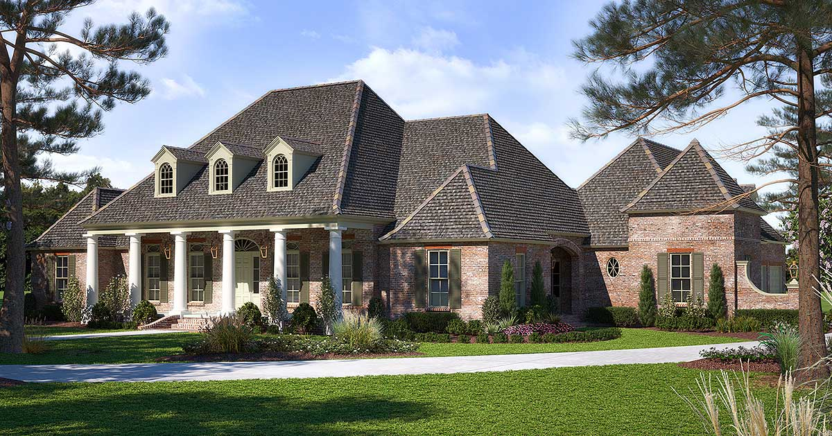Luxurious Acadian House Plan With Optional Bonus Room