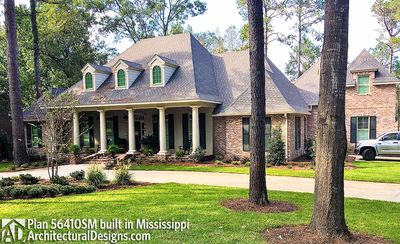Luxurious acadian house plan with optional bonus room for Acadian house plans with bonus room