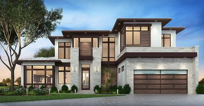 Master Down Modern House Plan with Outdoor Living Room - 86039BW thumb - 01