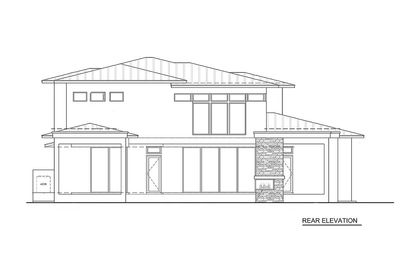 Master Down Modern House Plan with Outdoor Living Room - 86039BW thumb - 02