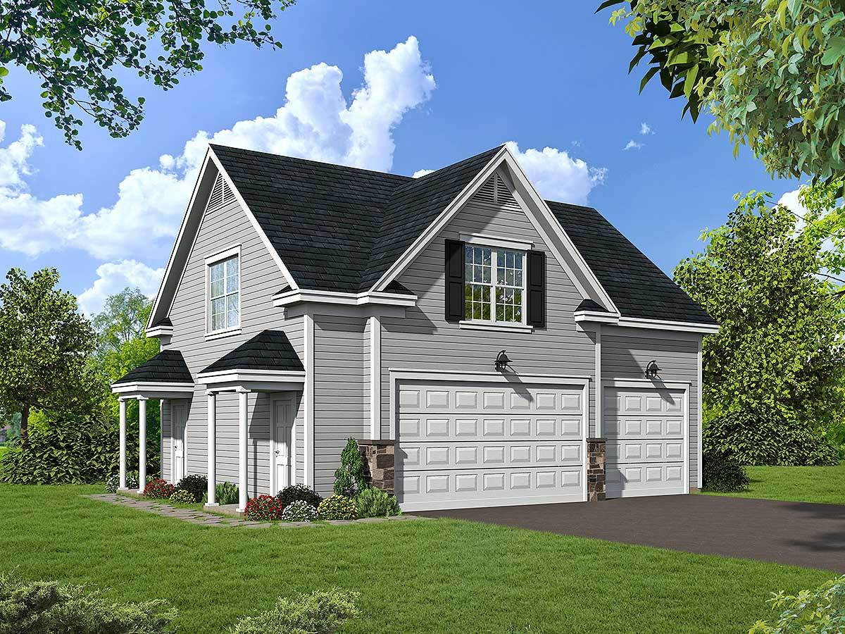 Attractive garage apartment 68421vr architectural for House plans with garage apartment