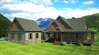 Rustic mountain house plan with expansion possibilities for House expansion plans