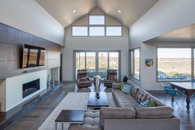 Gabled Entry Mountain Modern House Plan HU