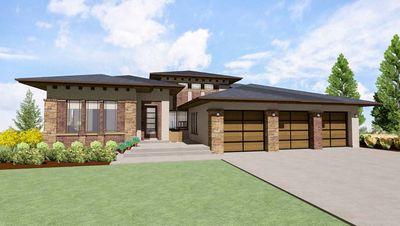 Modern Prairie House Plan For A Rear Sloping Lot   64421SC Thumb   05