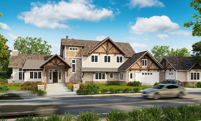 Northwest House Plan with Rustic Touches - 12946KN thumb - 01