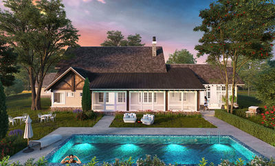 Northwest House Plan with Rustic Touches - 12946KN thumb - 04