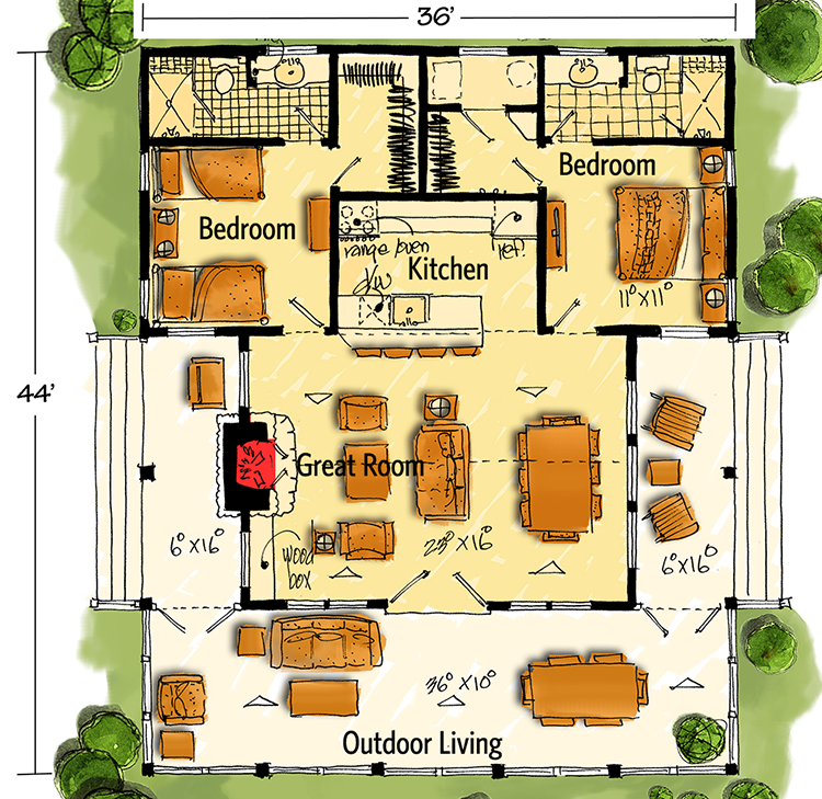 Bunkhouse Plan With Options 12947kn Architectural