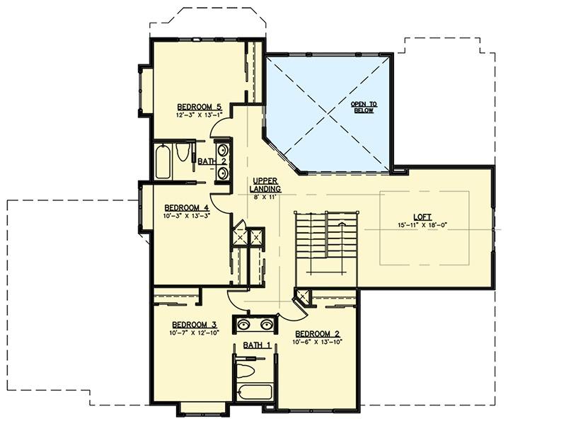 Reverse Floor Plan Pinit white. Eight Bedroom Craftsman House Plan   64430SC   1st Floor Master