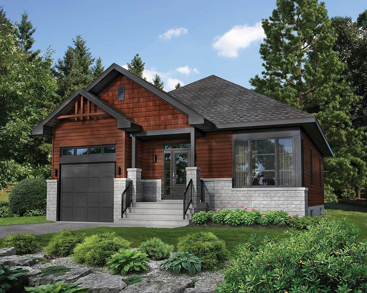 Northwest bungalow house plan 80868pm architectural for Plan maison bungalow avec garage
