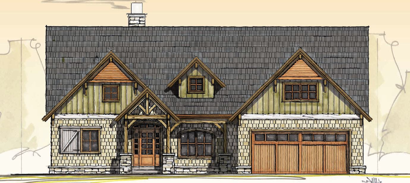 One Story Mountain House Plan - 18823CK