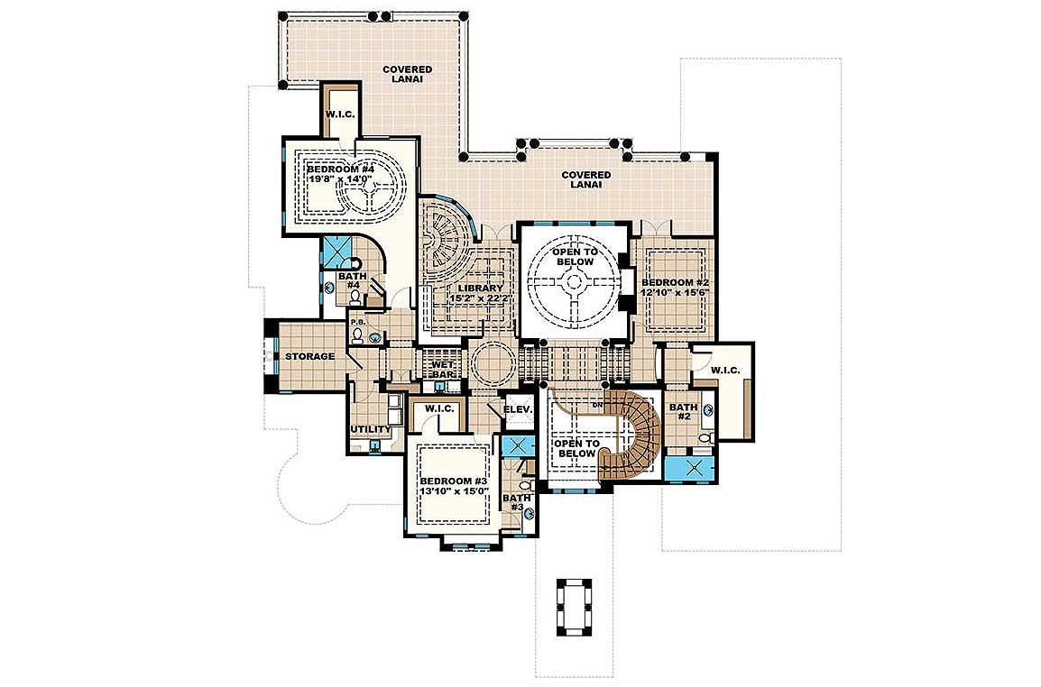 Grand mediterrean estate house plan 66380we for Grand house plans