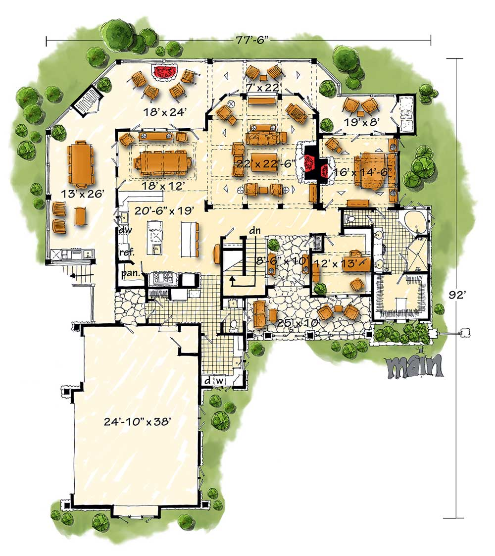 High End Mountain House Plan With Finished Lower Level