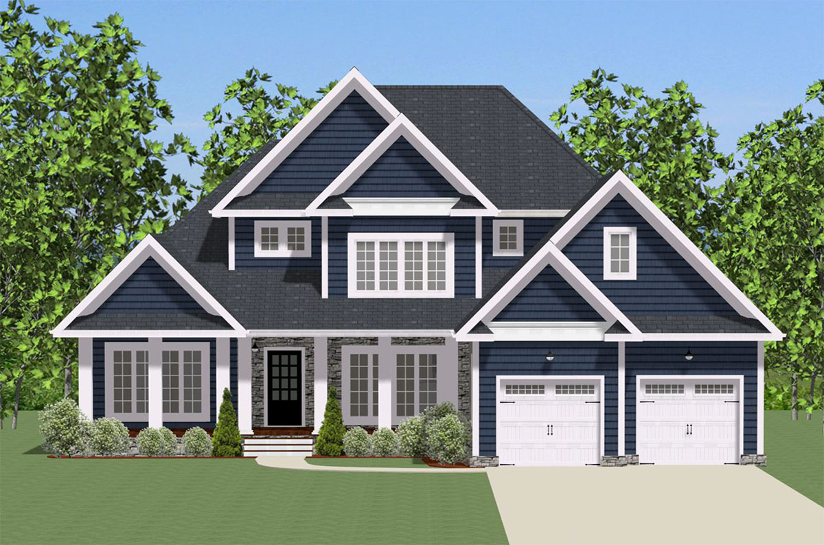 Traditional house plan with wrap around porch 46293la - Traditional home plans and designs ...