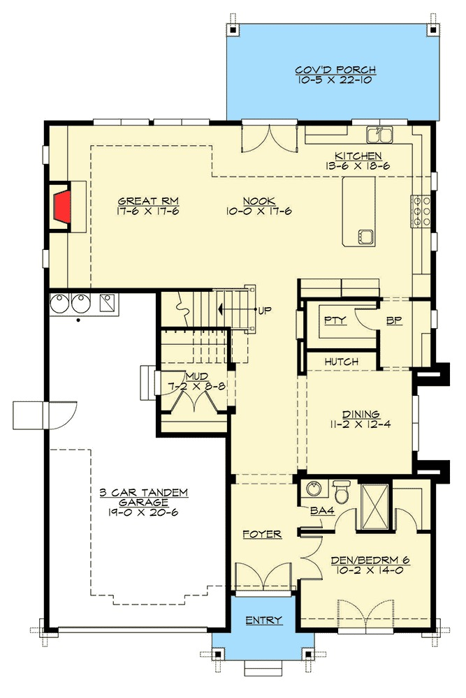 Northwest House Plan With Five Or Six Bedrooms 23641jd