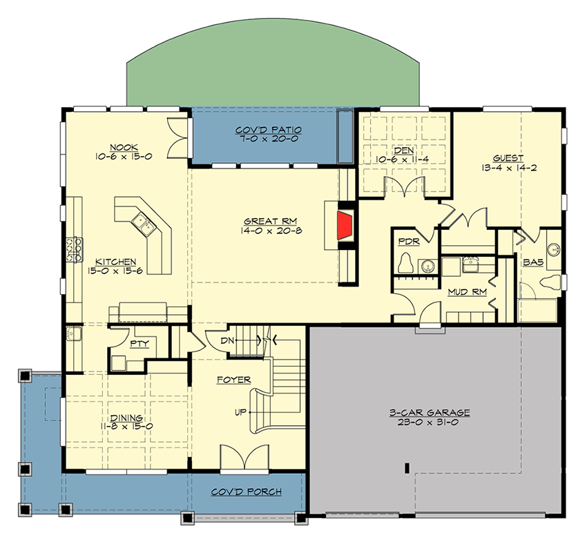 Exquisite craftsman house plan 23659jd architectural for 5000 sq ft house plans with basement