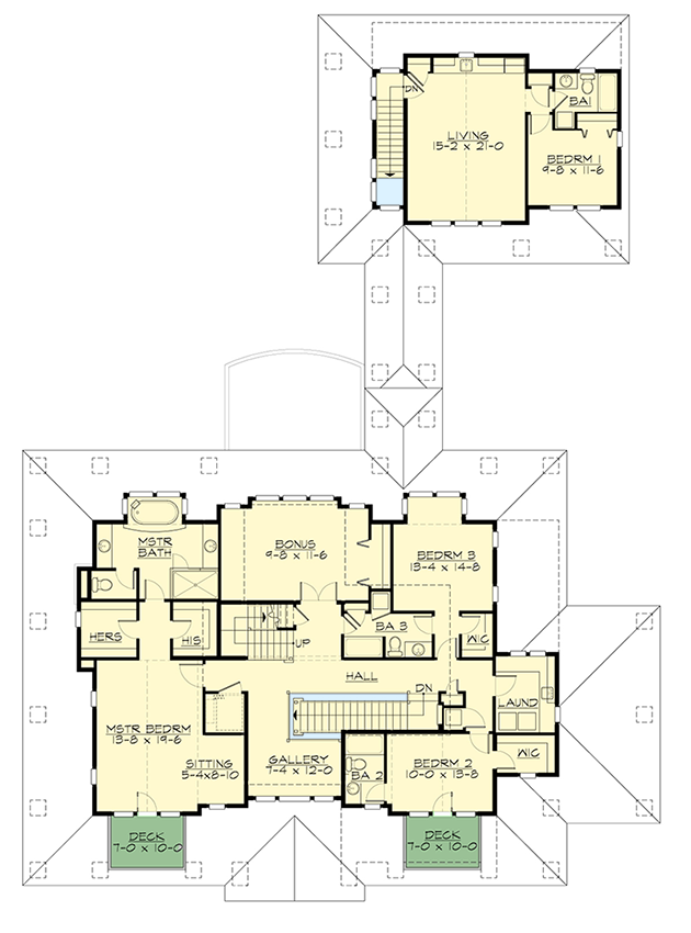 Stylish northwest house plan with garage apartment for Northwest home plans