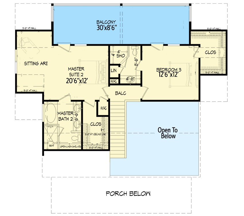 Three bed country home plan with two master suites 68434vr 1st floor master suite 2nd floor Master bedroom with sitting area floor plans