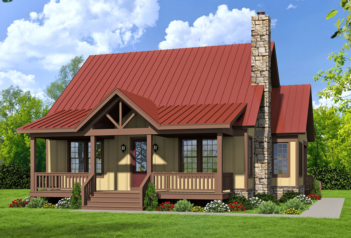 Three bed country home plan with two master suites for Double master suite house plans
