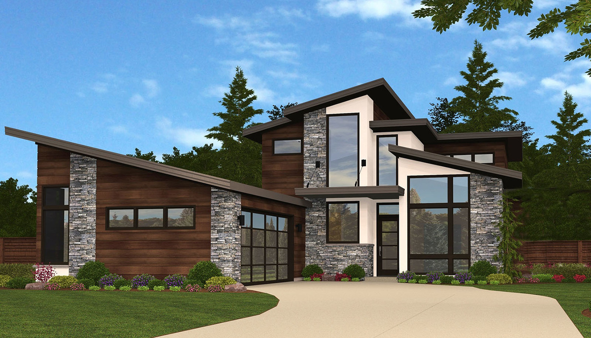 Slimmed Down Exclusive 3 Bed Modern House Plan - 85135MS ...