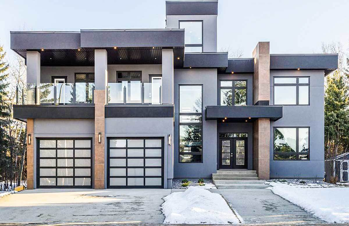 Modern House Plan With Roof Top Deck 81683ab