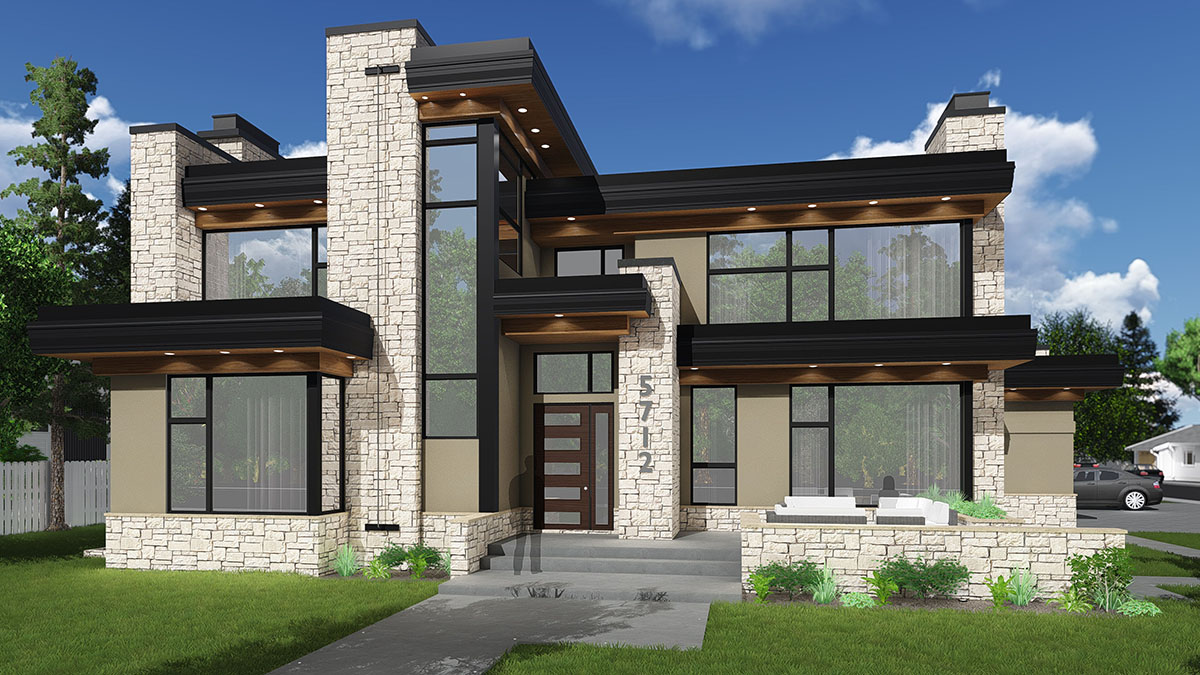 modern floor plans for new homes impeccable modern house plan 81687ab architectural designs house plans 1261