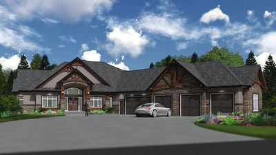 Mountain house plan with 5 car garage 81688ab for 5 car garage plans