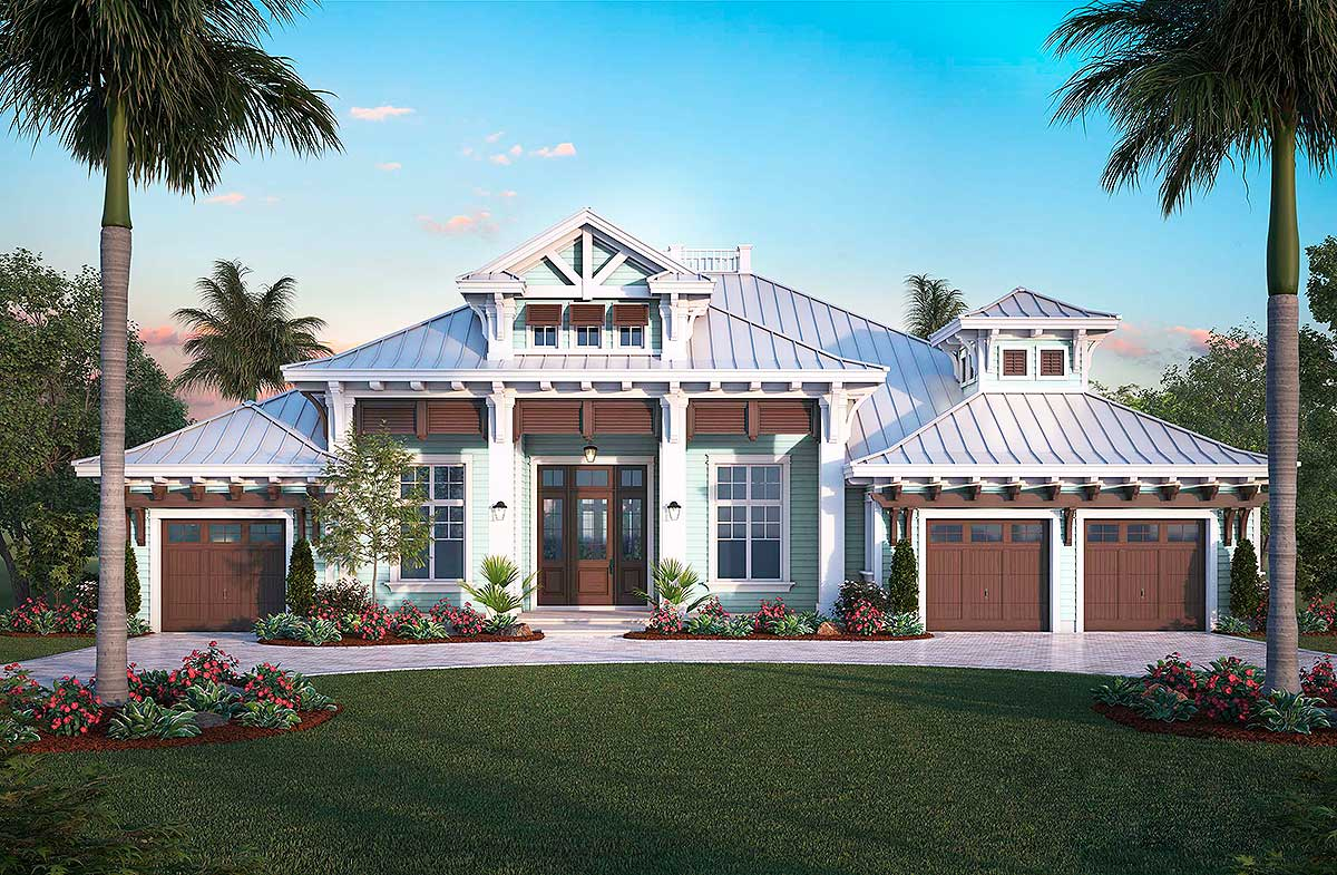 Exquisite Florida House Plan - 66383WE