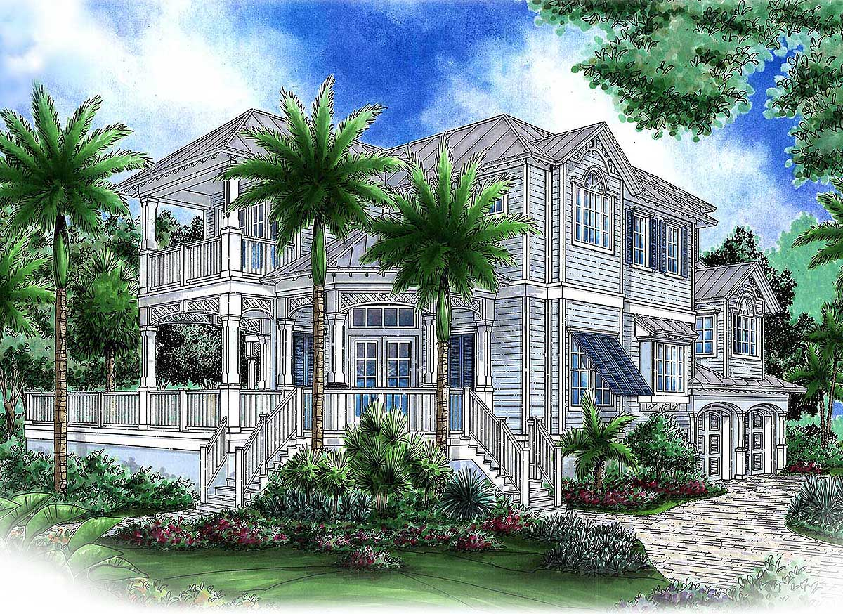 Palatial southern house plan 66384we 1st floor master for Palatial home designs