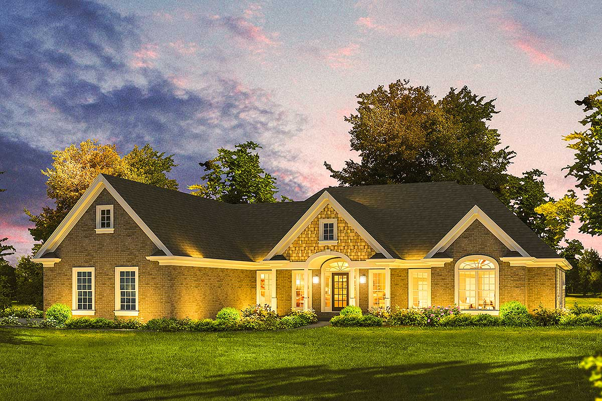 Elegant Ranch House Plan 57270ha Architectural Designs