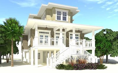 4 bed piling home plan with great views 44137td for Piling home plans