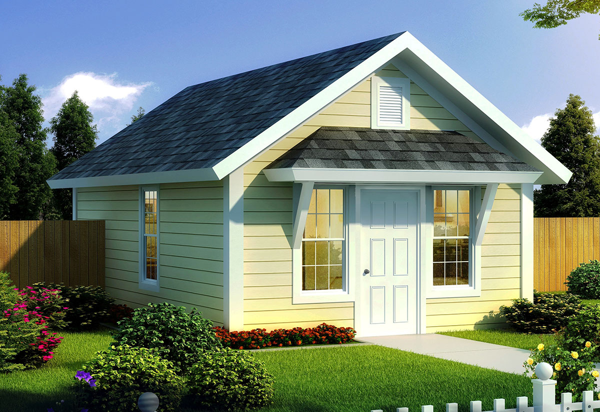 Tiny Home Designs: Compact Tiny Cottage - 52283WM