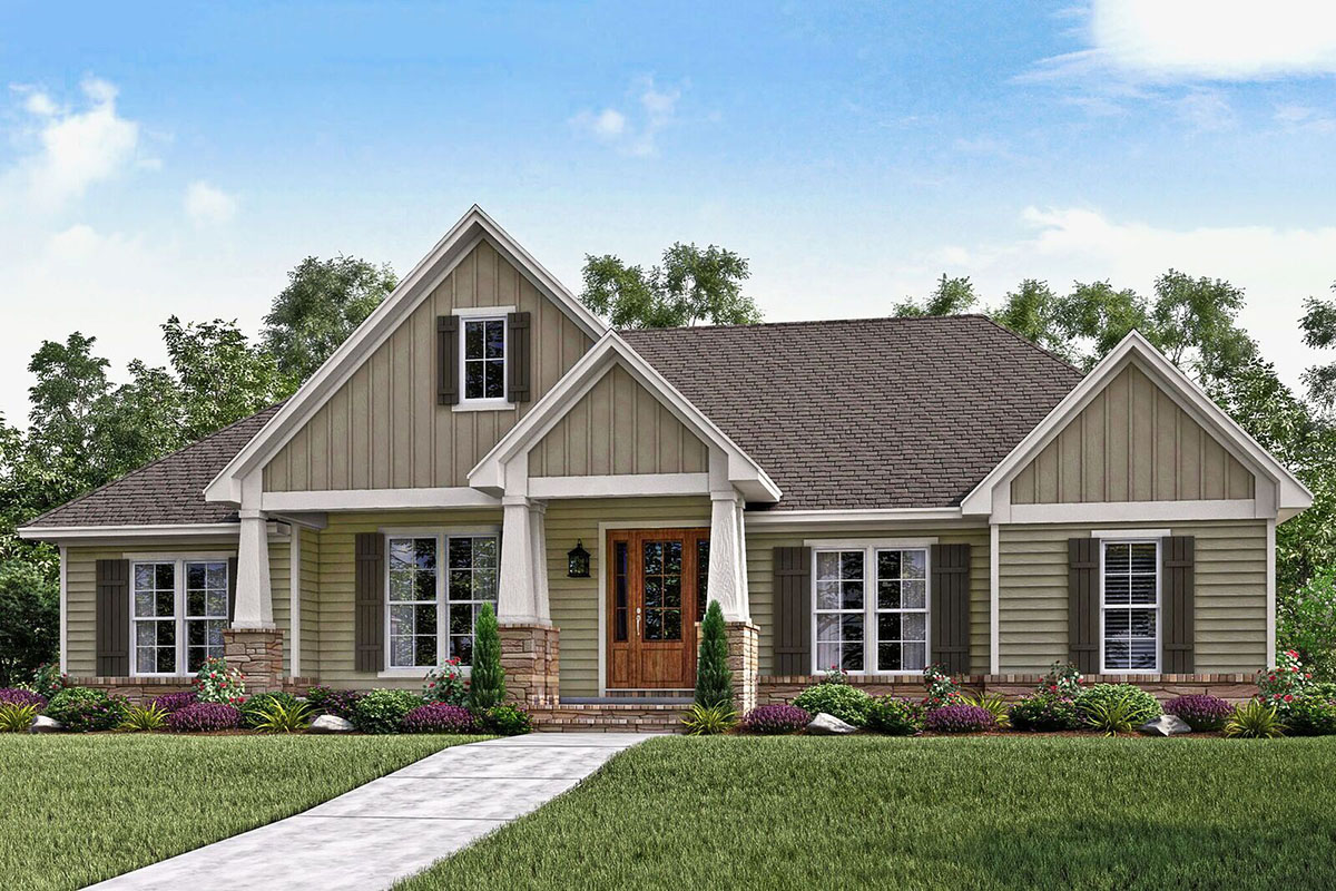 Craftsman House Plan Loaded with Style - 51739HZ ...