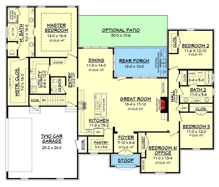 Acadian house plan with bonus space 51740hz for Acadian floor plans