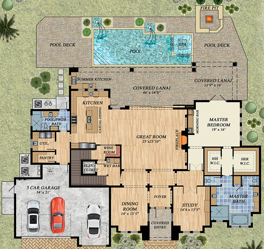 Peachy Upscale Florida House Plan 31845Dn 1St Floor Master Suite Largest Home Design Picture Inspirations Pitcheantrous