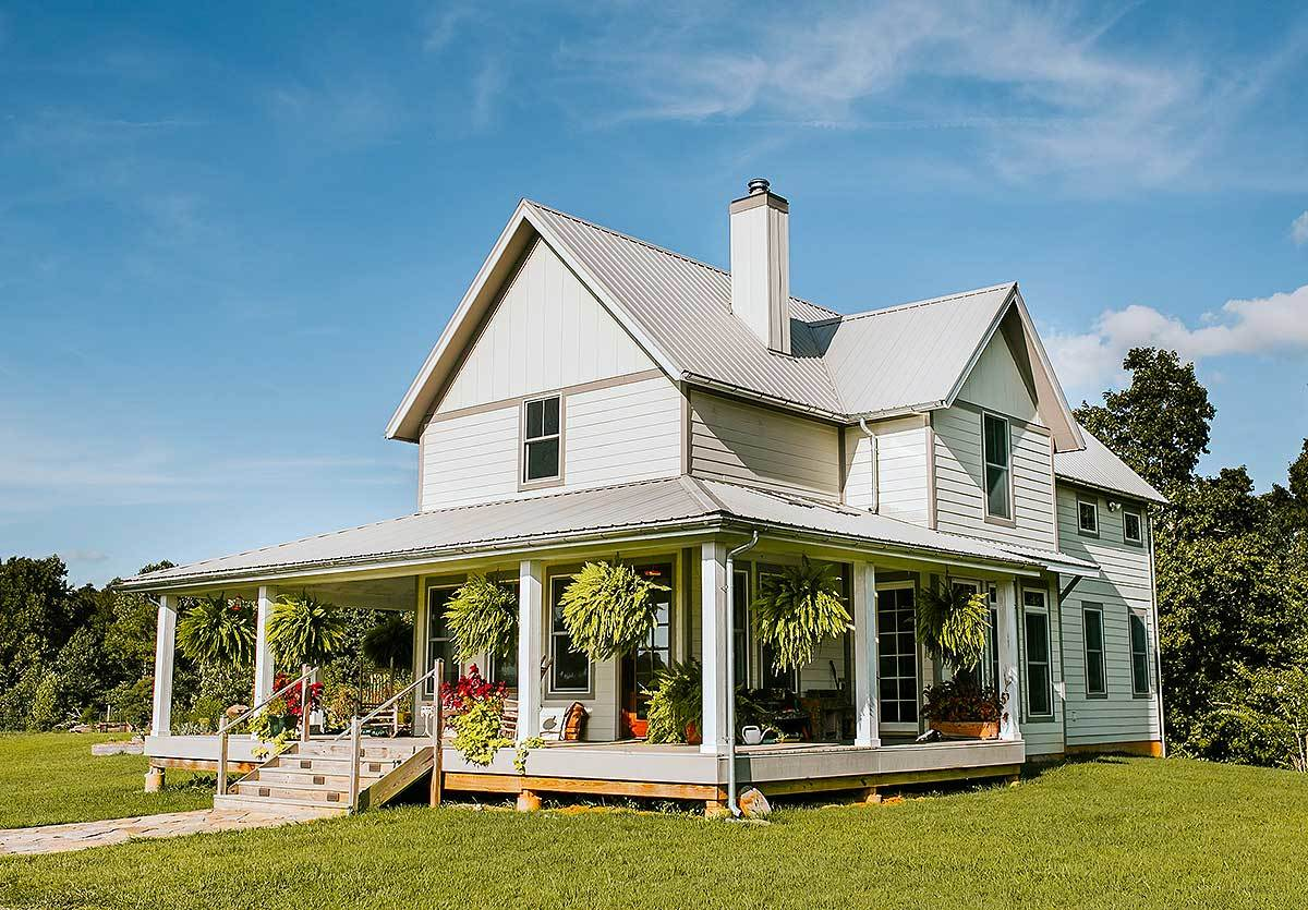 Exclusive 3 bed farmhouse plan with wrap around porch - Home designs with wrap around porch ...