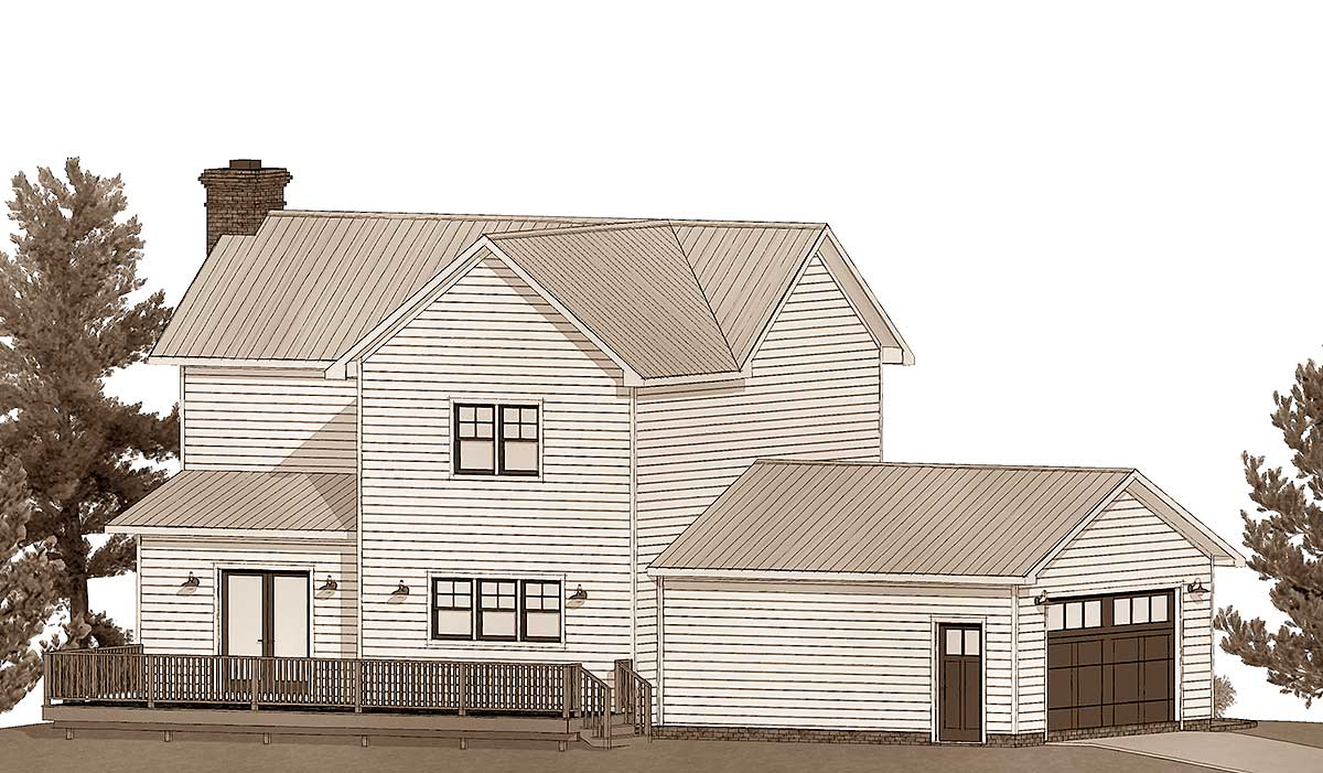 Exclusive Farmhouse Plan With Open Concept Living
