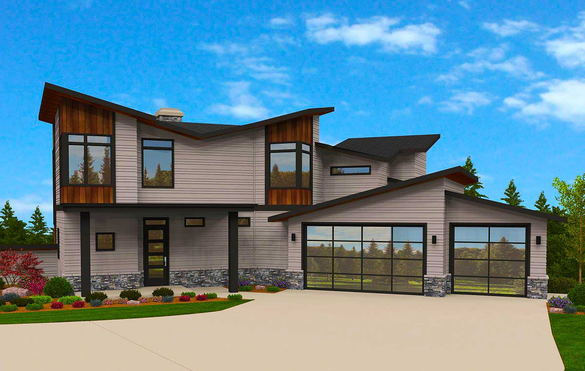 Exciting Exclusive 6 Bed Modern House Plan - 85145MS ...