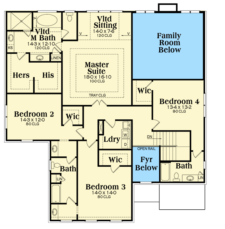walk in closet floor plans a walk in closet for every bedroom 75595gb architectural designs house plans 7526