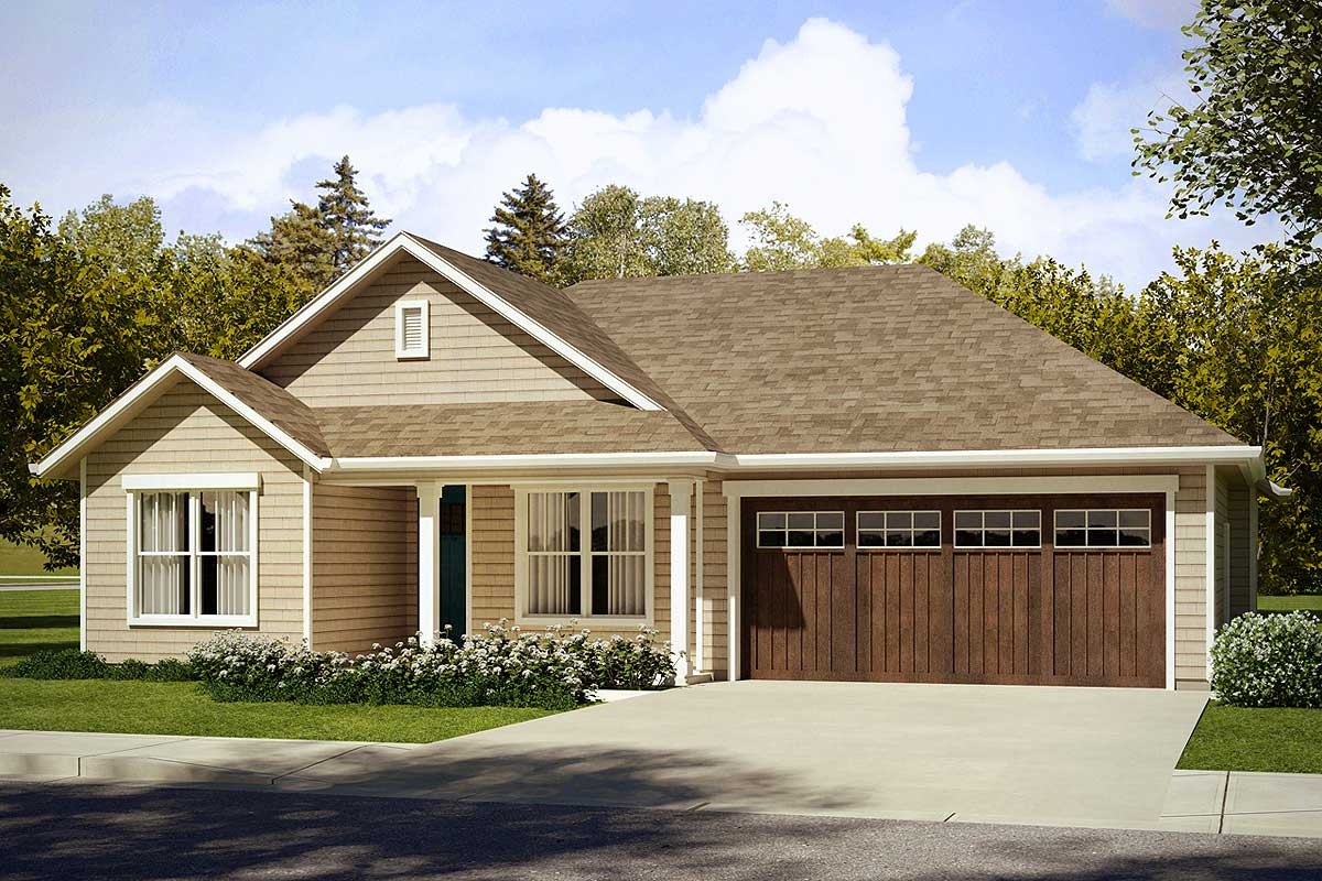 3 Bedroom Craftsman Style House Plan - 72859DA ...