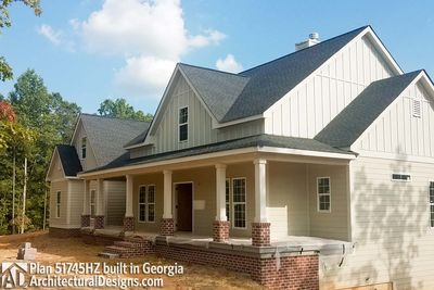 country house plan with flex space and bonus room 51745hz thumb 03 - Architectural Designs Com
