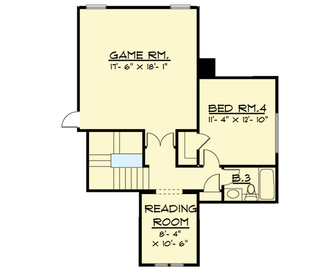 4 Bed Craftsman With Upstairs Game Room 915014chp 1st