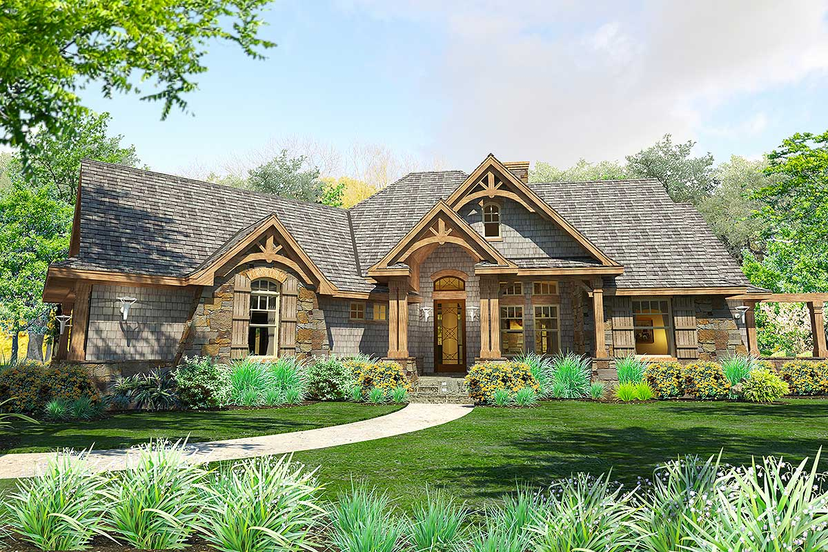 Stunning craftsman with 3 car garage and expansion up and for Up and down house design